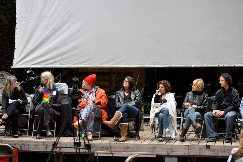 """With Vicki Abelson, Jane Smiley, Allee Willis, Mo Gaffney, Cathy Ladman, L.Lieberman, and Korel Tunador at """"Women Who Write"""""""