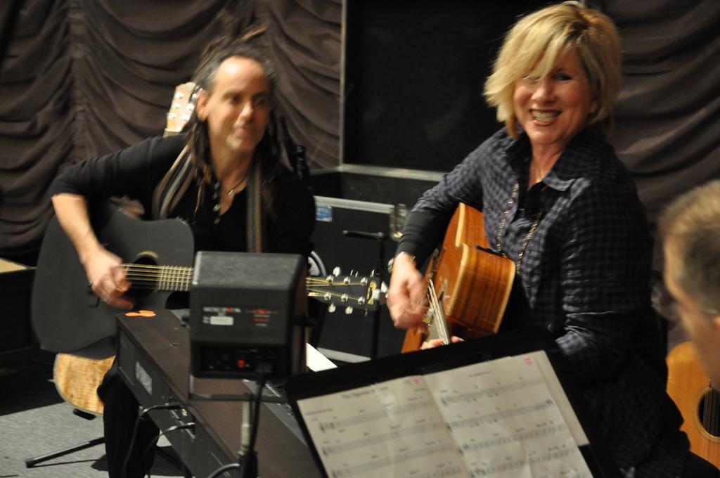 Lori Lieberman at Woodsongs Radio Hour, Kentucky with The Jayhawks