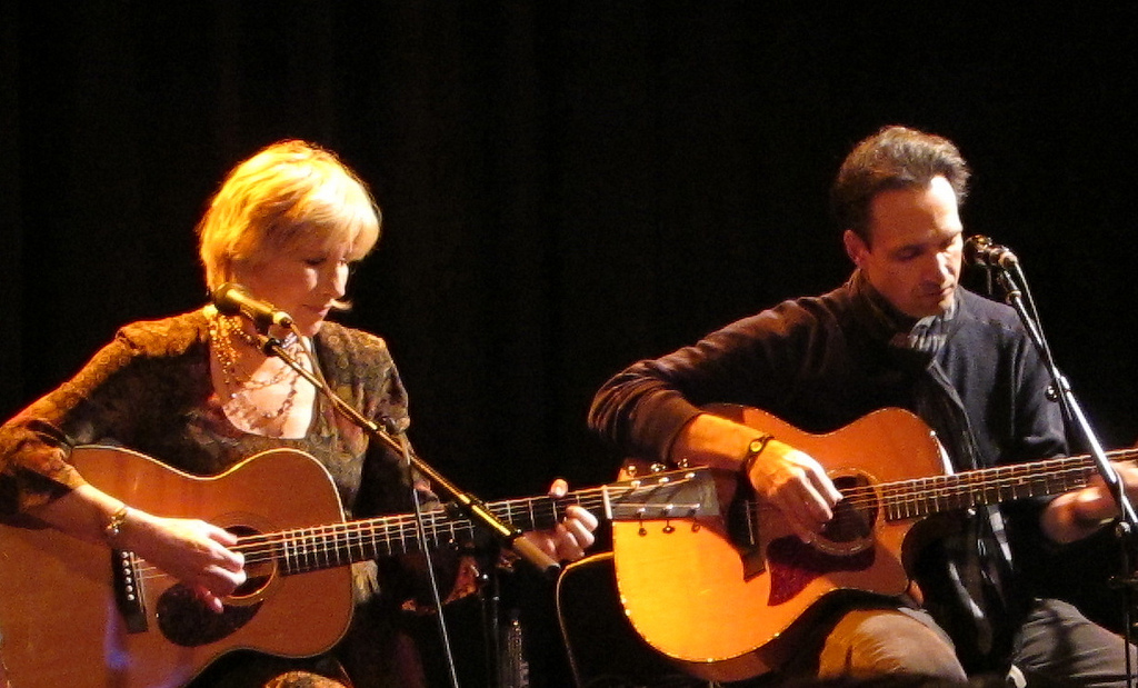 """Lori Lieberman with Eugene Ruffolo at Leo Blokhuis book release, """"Sounds Of The West Coast"""""""