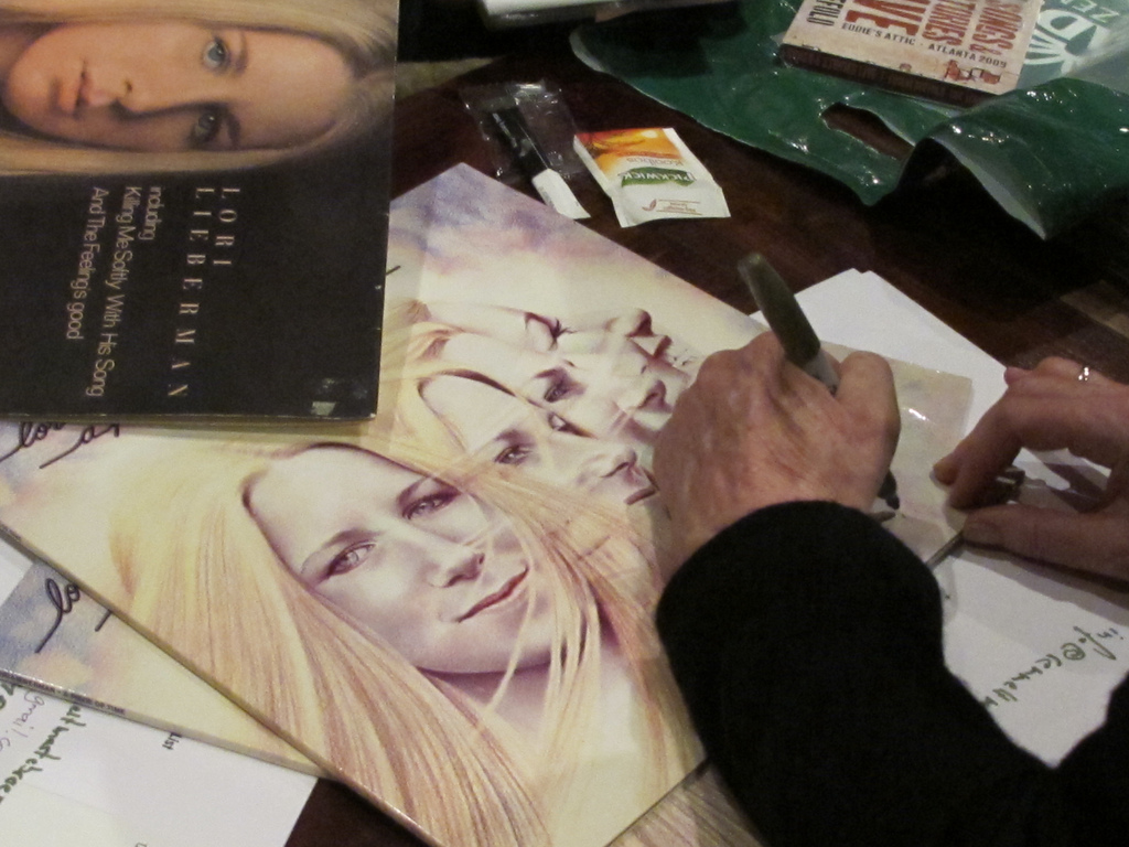 "Signing early LP ""A Piece Of Time"" following concert at the Carre in Amsterdam"