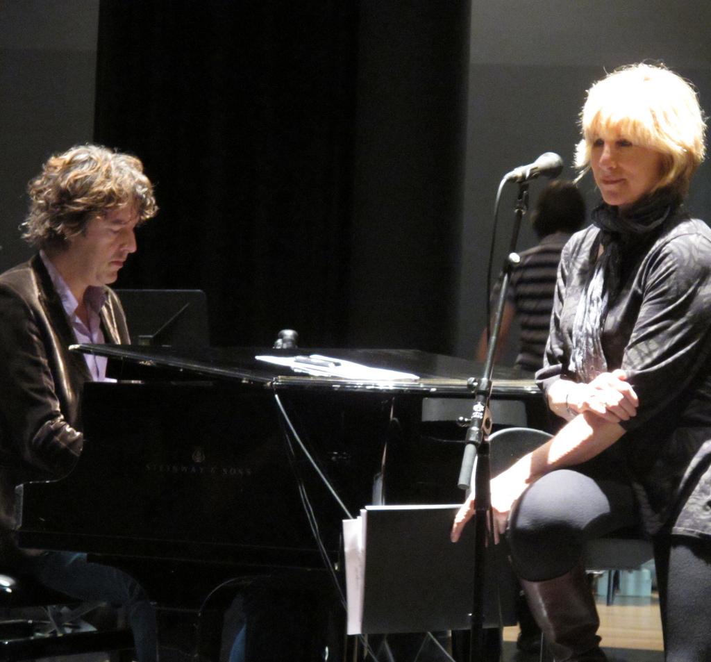 Lori Lieberman rehearsing with Michiel Borstlap, Rotterdam