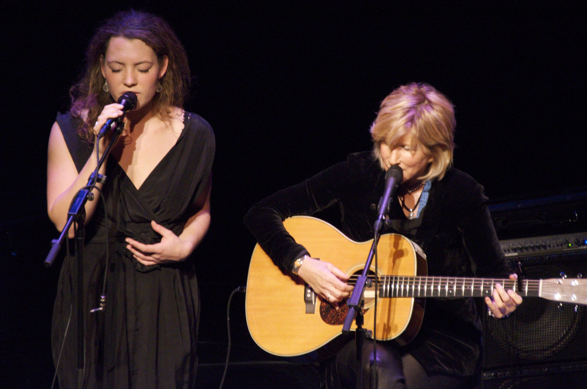 Lori with the wonderful Dutch artist, Celine Cairo, at Theater De Meervaart, NL